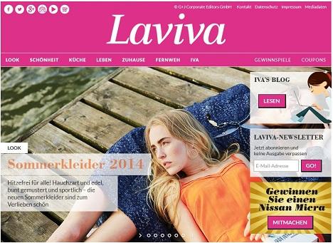 Laviva Com Gewinnspiele laviva startet als multimediale medienmarke durch cp monitor