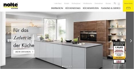 TWT Interactive gibt Nolte Küchen-Website neuen Anstrich