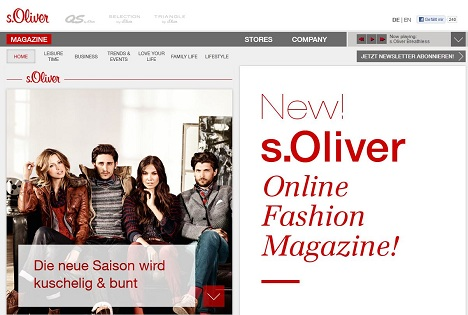 most popular how to buy official supplier Plan.Net launcht FASHION MAGAZIN BY S.OLIVER